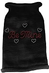 Be Mine Rhinestone Knit Pet Sweater MD Black